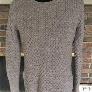 Athleta honeycomb small gray sweater